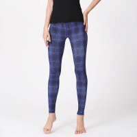 Women's High Waisted Athletic Leggings Navy Tights