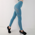 Women's High Waisted Workout Leggings Seamless Blue Pants