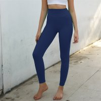 Women's High Waisted Sports Leggings Blue Seamless Gym Pants