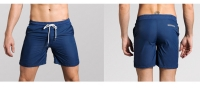 Men's Athletic Shorts With Pockets Liner Navy Running Beach Gym Workout Shorts [20181022-6]
