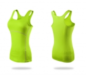 Womens Yoga Tops Gym Green Quick Dry Running Workout Vest [20180918-7]