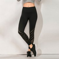 Women's Yoga Leggings Seamless High Waisted Black Workout Tights
