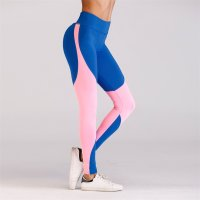 Women's Yoga Leggings Blue Workout Tights Training Pants