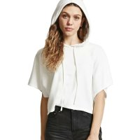 2018 Women's Summer T-shirt White Sweater With Hood