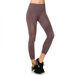 Women's Yoga Capris Leggings Seamless Purple High Waisted Gym Tights