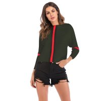 Women's Casual Knit Tops Long Sleeve Green Winter Fashion Shirt