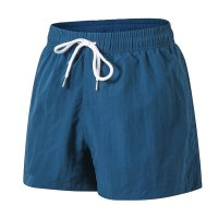 Men's Blue Beach Swimming Shorts With Pockets