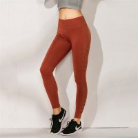 Women's Seamless Leggings Workout Red Yoga Fitness Tights