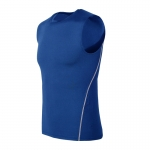 Men's Athletic Tank Tops Blue Workout Compression Shirt Sports Vest