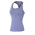 Women's Yoga Vest Tops Violet Quick Dry Gym Running Workout Shirt