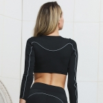 Women's Workout Crop Top Reflective High Waisted Yoga Shorts [20190411-1]
