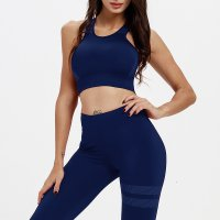 Women's Workout Sports Bras With Padding Navy Yoga Bra Tops