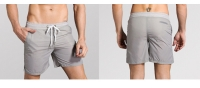 Men's Athletic Shorts With Pockets Liner Grey Running Beach Gym Workout Shorts [20181022-7]