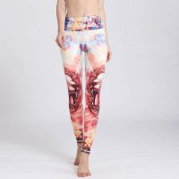 Women's Workout Leggings Leo Printed Quick Dry Tights