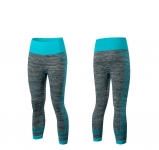 Women's Yoga Pants Blue Gym Capris Athletic Trousers Running Leggings [20181006-4]