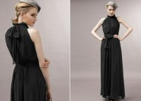 2018 Women's Maxi Dresses Bohemian Halter Chiffon Black Formal Dresses