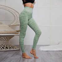 Women's Workout Leggings Seamless Green Camo Yoga Pants