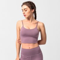 Women's Yoga Cropped Camisole Top Violet Fitted Tank